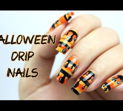 Halloween Drip Nails | Halloween Nail Art by Lucy's Stash