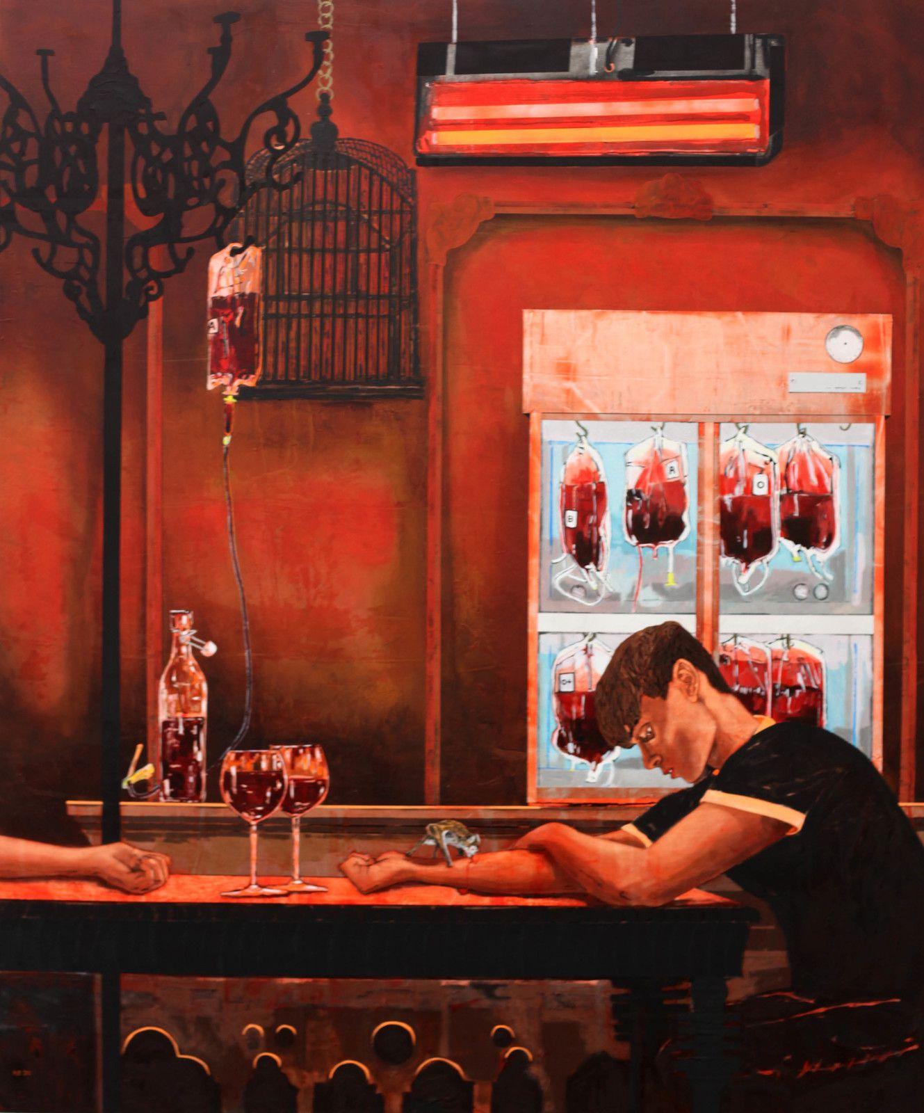 """""""Three Vampires"""", 2020 de Hernan BAS - Courtesy de l'artiste et de la Galerie Perrotin © Photo Éric Simon"""
