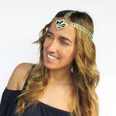 Tiare, headband Swarovski et dentelle
