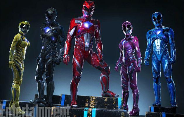 Une première photo de groupe pour les nouveaux Power Rangers !