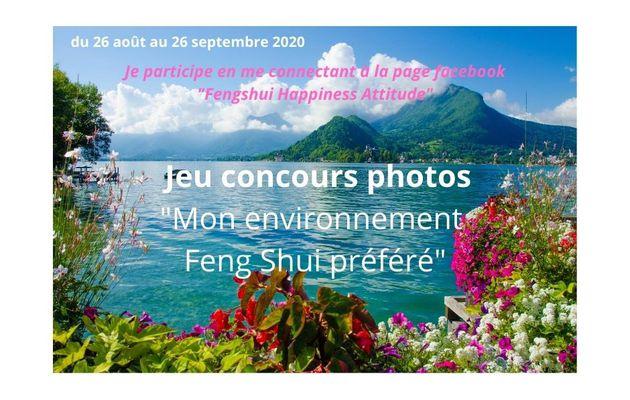 """Jeu concours photos """"Mon environnement Feng Shui préféré"""" du 26 août au 26 septembre 2020"""
