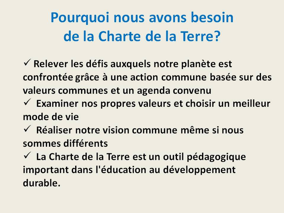 Charte éco-citoyenne