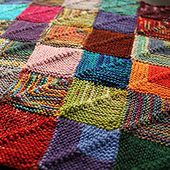 Knitted Patchwork Recipe pattern by Martine Ellis