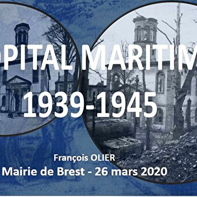 HOPITAL MARITIME 1939 - 1945 - ANNULATION CONFERENCE