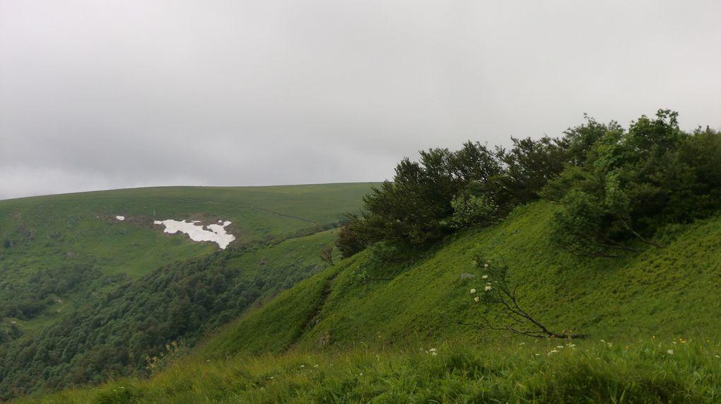 Le sentier des Névés offre des vues magnifiques et sauvages sur la combe de l' Ammelthal. L'accumulation de neige y résiste souvent jusqu'à mi-juillet.