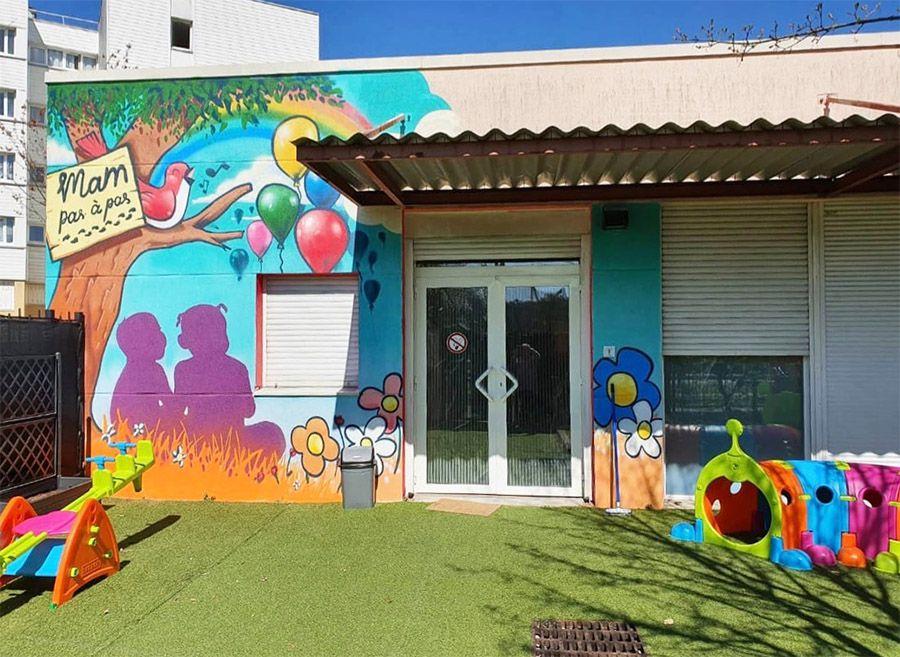 Les belles couleurs de la maison d'assistantes maternelles Pas à pas à Aulnay-sous-Bois