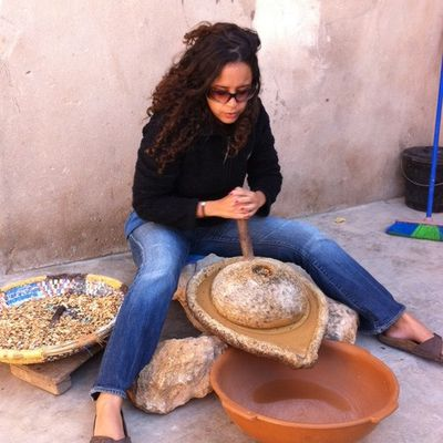 Making argan oil in Morocco