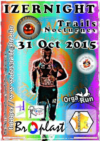 L'Izernight, trail nocturne - 31.10.15.
