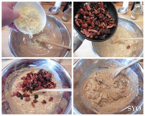 Cake Voyageur: Farine de Châtaigne, Chorizo, Lardons, figues ...