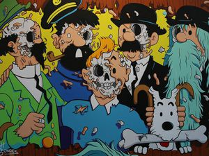 Tin Tin deconstructed - © Matt Gondek  /Hold Up - © Pez - Avenue des Arts