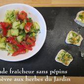 Salade fraîcheur sans pépins, et son chèvre aux herbes du Jardin. - Chez Mamigoz
