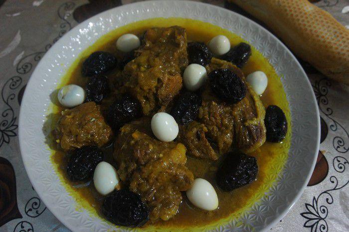 Tajine de veau marocain aux pruneaux