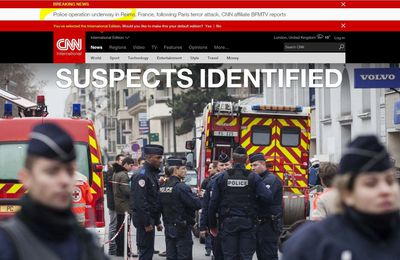"""CNN claims """"SUSPECTS IDENTIFIED"""" : Police operation underway in Reims, France, following Paris terror attack"""