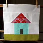 olive and ollie: Home Sweet Home Quilt Along: little house block tutorial