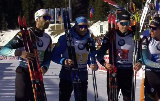 La France championne du monde de biathlon en relais hommes