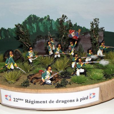 DRAGONS A PIED ........22éme REGIMENT, LE DIORAMA