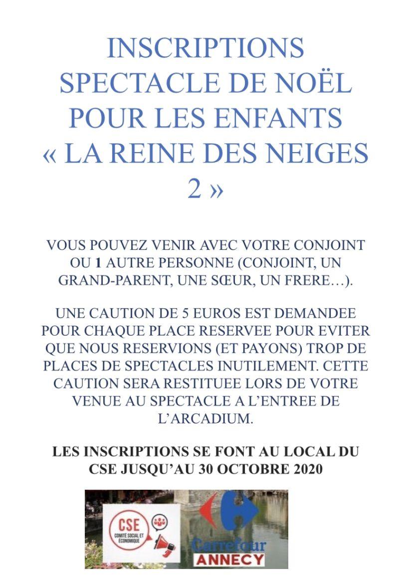 Spectacle de noël pour les enfants la reine des neiges 2 à l'Arcadium d'Annecy le dimanche 13 décembre 2020 a 14h30