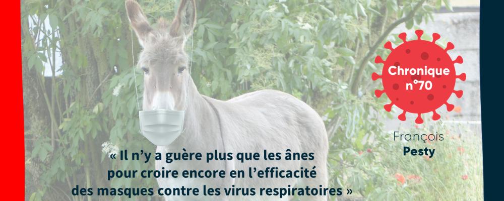 « Il n'y a guère plus que les ânes pour croire encore en l'efficacité des masques contre les virus respiratoires »