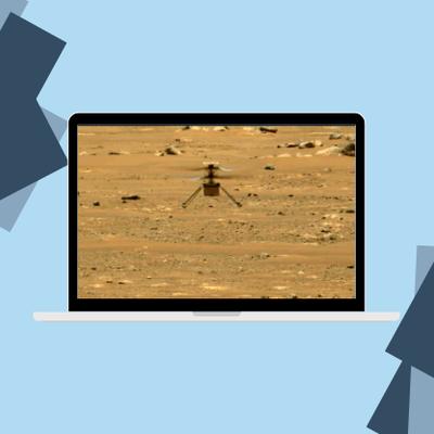 Mission Mars 2020 : l'instrument français supercam enregistre le son du 4ème vol d'Ingenuity !