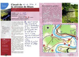 Randonnée Pédestre du 25 Octobre  De ND de Vêles à la Cévenne de Béars