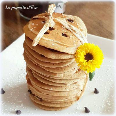 Pancake moelleux aux pépites de chocolat