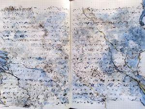 Images une et deux : premiére étude de R. Strauss. Images trois et quatre, deuxième étude de R . Strauss. Images cinq, six et sept, Léon Minkus . Aquarelles 29 x 35 . Pour F. et A. .5