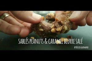 Sablés peanuts et caramel beurre salé