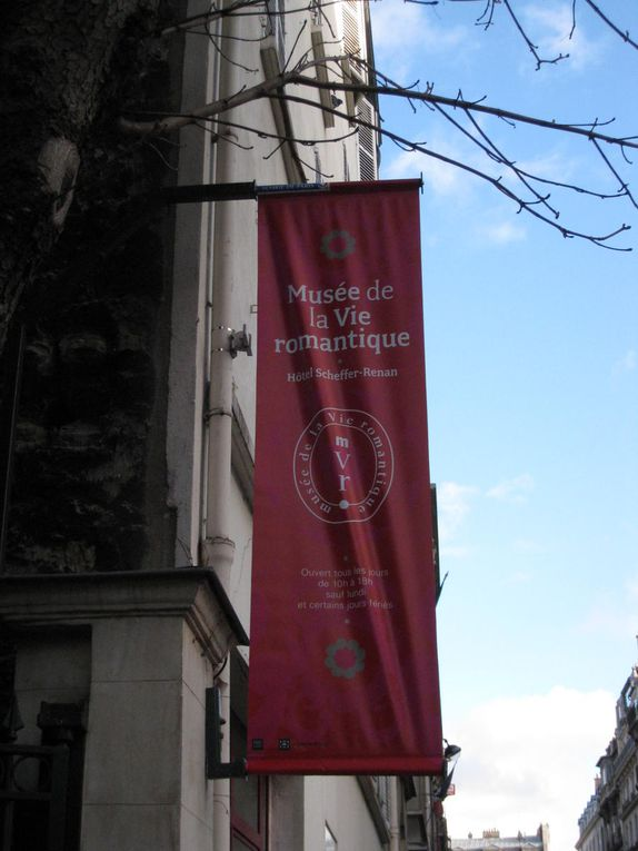 Musée de la Vie romantique dans l'Hôtel Renan-Scheffer, consacré au monde artistique et littéraire des années 1820 à 1860