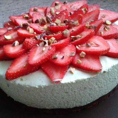 Cheesecake pistache fraise