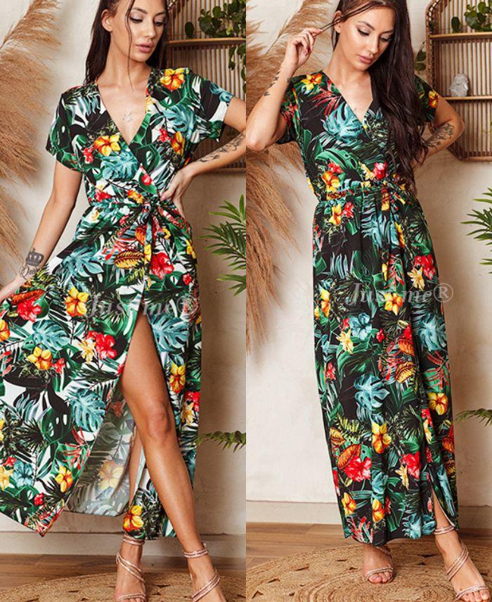 Thème Fleurs Tropicales - Femme