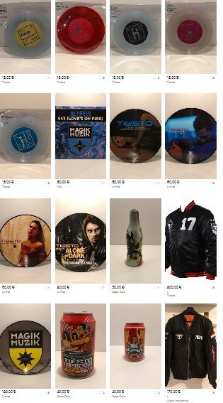 Fred, a fan of Tiesto, sells his collection on Vinted !