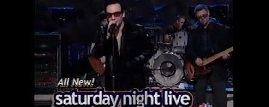 U2 - NBC Saturday Night Live - NBC Studios - New York -09/12/2000