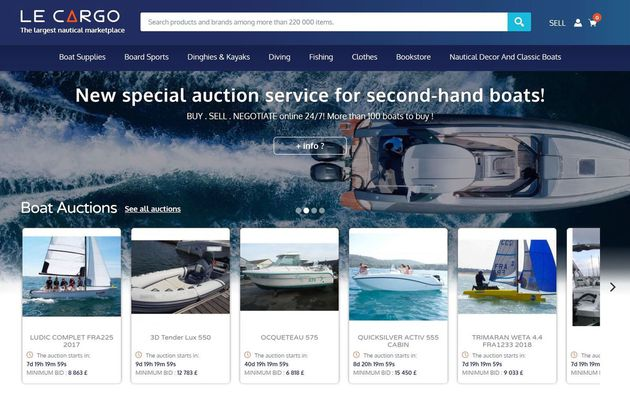 Second-hand boats - nearly 110 boats at auction, in less than 10 days, on Cargo.market!