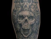 maya skull tattoo