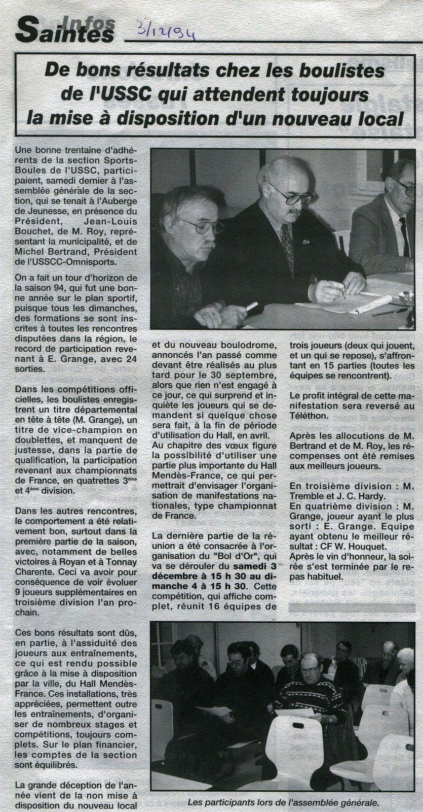 « Mon Billet du Samedi » 2020.09.26. Année 1994