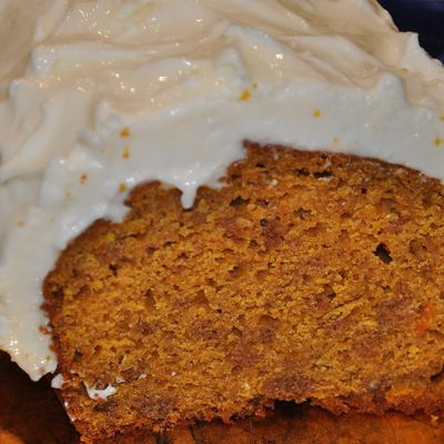 Carrot cake et son indispensable cheese topping