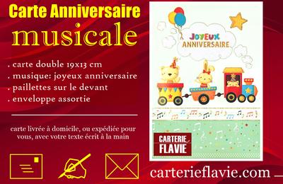 Suggestion de Flavie pour un prochain anniversaire 🙂, avec cette carte musicale pour enfant