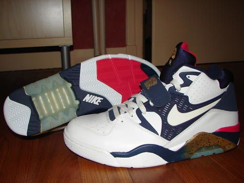 Nike Air Force 180 (White/Navy/Red/Gold)