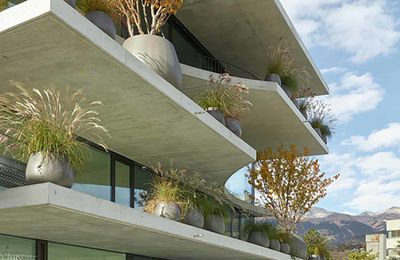 A MULTI FUNCTIONAL BUILDING IN SION, SWITZERLAND  BY SAVIOZ FABRIZZI ARCHITECTS