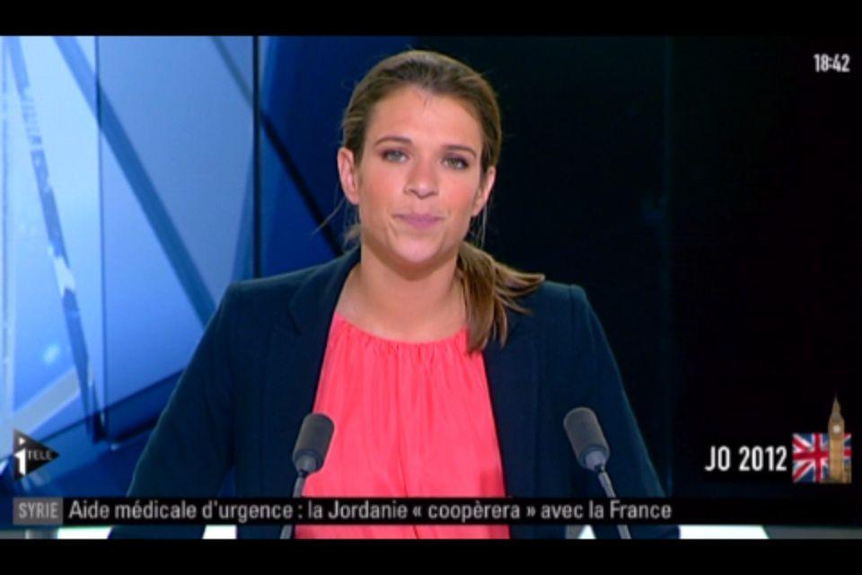 [2012 08 08] CONSTANCE DE BONNAVENTURE - I>TELE - INFO SOIR @18H30