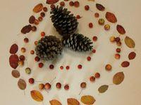 Land art automne chez Claire KB