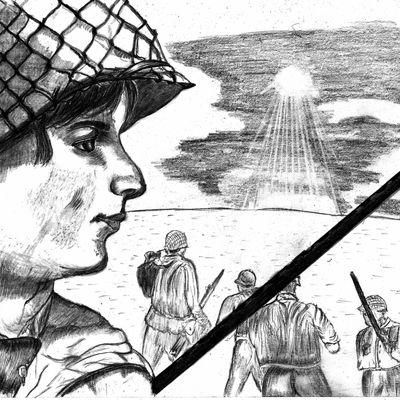 Barque,28 novembre 2012,crayon papier