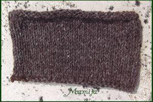 feutrage de la laine : une petite barrette
