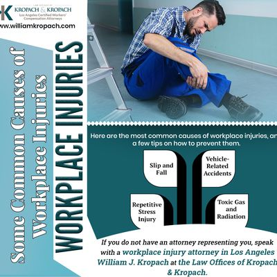 Some Common Causes of Workplace Injuries