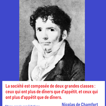 La citation du jour : les classes sociales selon Nicolas de Chamfort