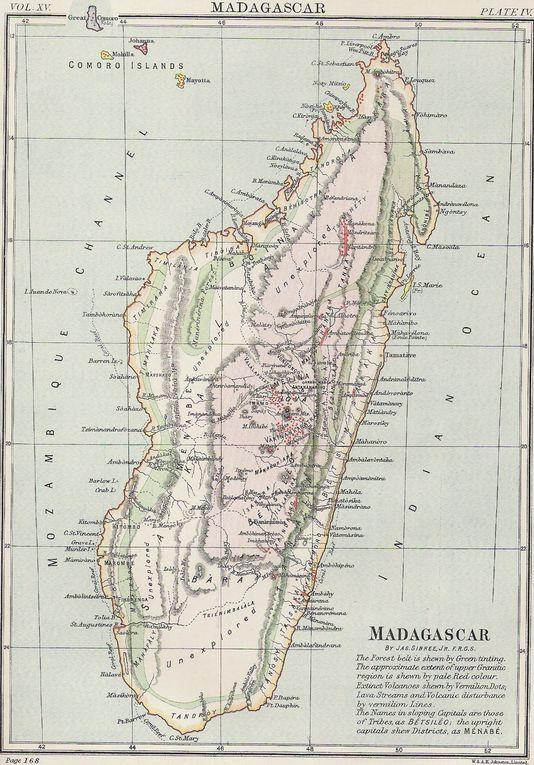 Ensemble de vieille cartes de Madagascar