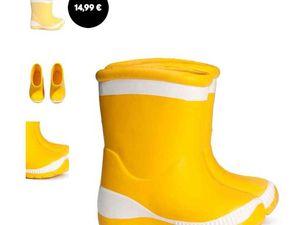 Robe liberty 9,99€ -  Combinaison à motif 19,99 € - Robe bi matière 14,92€ - botte de pluie 14,99€ - et collant 7,99€