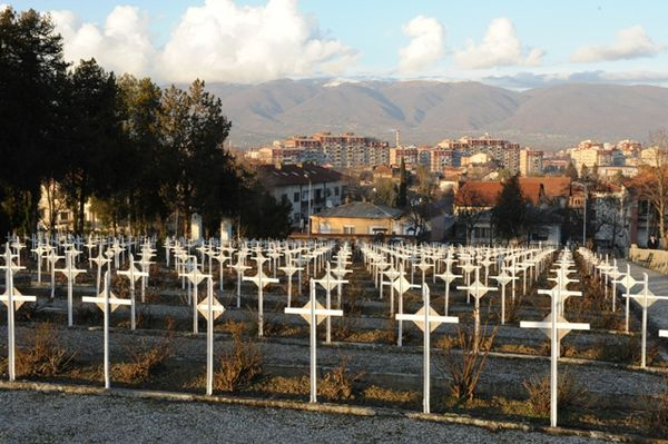 Cimetière militaire de Skopje (autrefois Uskub).