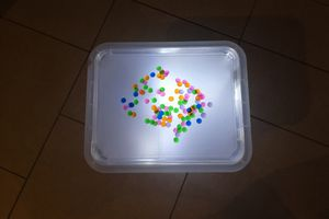 Table lumineuse chez Cyrille