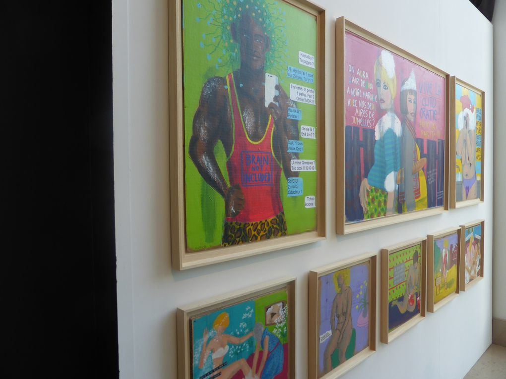 Dominique Cozette, La peinture est un acte gratuit. 59e Salon de Montrouge, 2014 © Photographies Gilles Kraemer